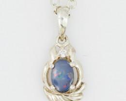 Cute Australian Opal Doublet Pendant OPJ 2233