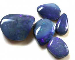 FREE SHIPPING  BLUE SHELL DOUBLET PARCEL OPALS 26 CTS FOA46