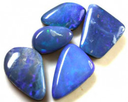 FREE SHIPPING BLUE SHELL DOUBLET PARCEL OPALS 10.30 CT FOA58