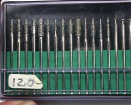 NEW PACKET 30 DRILLS 120 GRIT DIAMOND TIP