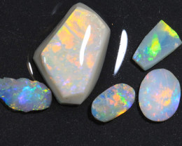 12.75ct  -2#  -  Lightning Ridge  Opal Rubs [22388]