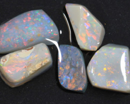 19.25ct  -2#  - Lightning Ridge Opal Rubs  [22390]