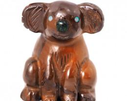 Natural  boulder ironstone Carved into Koala bear BU 2475