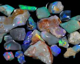 65.24cts Australian Lightning Ridge Black Opal Rough Lot / ZF02