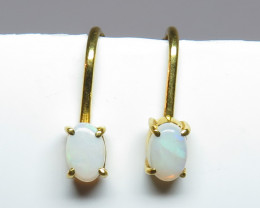 Australian Light Precious Opal GP Screw/Clip Back Earrings
