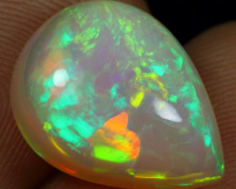 6.80cts Neon Flash Fire and Puzzle Pattern Natural Ethiopia Welo Opal
