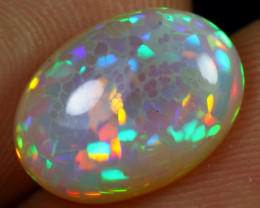Top Class 3.80cts Rainbow Cell Honeycomb Natural Eth. Welo Opal