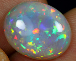 AAA 4.60cts Rainbow Floral Honeycomb Pattern Natural Eth. Welo Opal