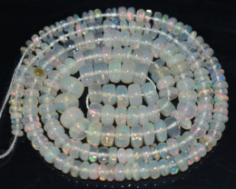 39.50 Ct Natural Ethiopian Welo Opal Beads Play Of Color