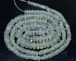 34.35 Ct Natural Ethiopian Welo Opal Beads Play Of Color