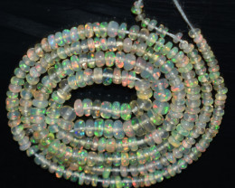 21.60 Ct Natural Ethiopian Welo Opal Beads Play Of Color