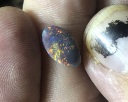 1.05ct Lightning Ridge black opal