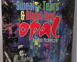 Sweat, Tears and Blood Red Opal by Ron McKenzie (Opal Mining, Opalton)