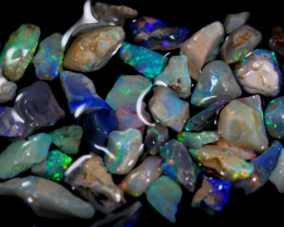 67.2cts Australian Lightning Ridge Black Opal Rough Lot / ZF04