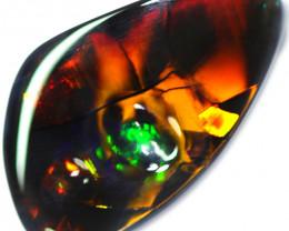 8.85 CTS BLACK OPAL STONE -NEON FIRE-LIGHTNING RIDGE- [LRO612] TRAY