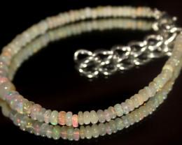 16 Crt Natural Ethiopian Welo Fire Opal Beads Bracelet 545