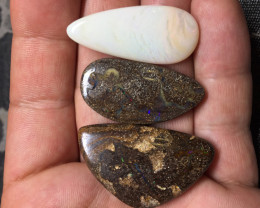109,14 cts - 3 boulder opal stone from Winton - BA504