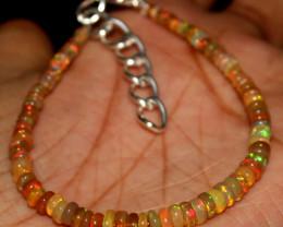 15 Crt Natural Ethiopian Welo Fire Opal Beads Bracelet 505