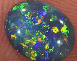Double sided 1ct Solid Lightning Ridge Dark Opal [LO-1665]