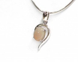 925 ST/ SILVER RHODIUM PLATED COBBER PEDY PENDANT [CP55]