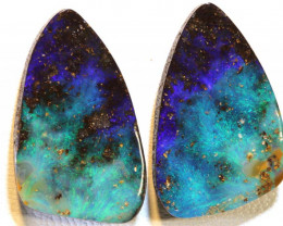 28.97 CTS QUALITY BOULDER OPAL STONE PAIR  INV-1370