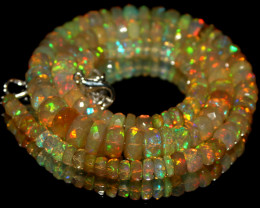 84 Crts Natural Ethiopian Welo Faceted Opal Beads Necklace 10