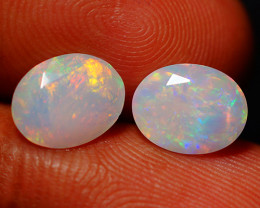 2.36 CT Top Quality Faceted Cut Ethiopian Opal Pair-ECF562