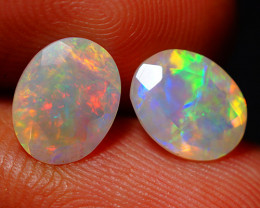 2.40 CT Top Quality Faceted Cut Ethiopian Opal Pair-ECF563