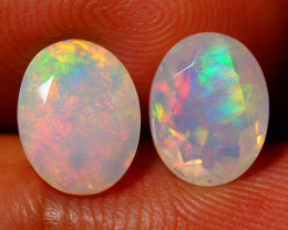 2.75 CT Top Quality Faceted Cut Ethiopian Opal Pair-ECF564