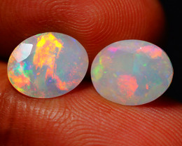 2.98 CT Top Quality Faceted Cut Ethiopian Opal Pair-ECF565
