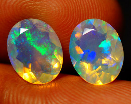3.00 CT Top Quality Faceted Cut Ethiopian Opal Pair-ECF566