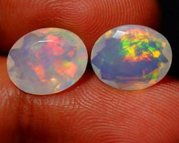 3.50 CT Top Quality Faceted Cut Ethiopian Opal Pair-ECF570