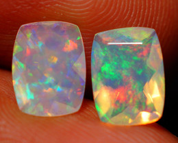 1.60 CT Top Quality Faceted Cut Ethiopian Opal Pair-ECF573