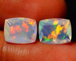 2.67 CT Top Quality Faceted Cut Ethiopian Opal Pair-ECF577