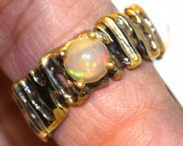 28.0 CTS   ETHIOPIAN OPAL RING STERLING SILVER   OF-588