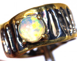 32.0 CTS ETHIOPIAN OPAL RING STERLING SILVER   OF-589