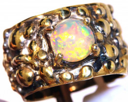55.0 CTS   ETHIOPIAN OPAL RING STERLING SILVER  OF-591opalsforever