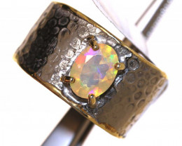 28.0 CTS  ETHIOPIAN OPAL RING STERLING SILVER  OF-595