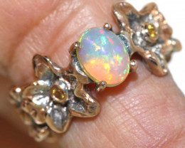 28.0 CTS    ETHIOPIAN OPAL RING STERLING SILVER OF-586