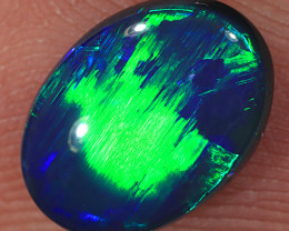 1.4ct 9x6.5mm Solid Lightning Ridge Black Opal [LO-1672]