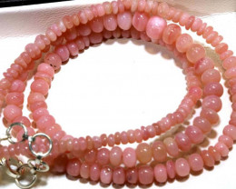 56.35 CTS - Pink Opal  Beads Strand     FOB-1884
