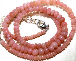 54.35 CTS -Pink Opal  Beads Strand      FOB-1885