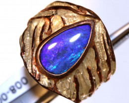 56.20 CTS BOULDER OPAL SILVER RING OF-2609