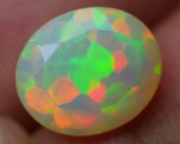 3.45 CRT WONDERFULL WELO CHAFF PUZZLE PATTERN FACETED WELO OPAL