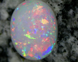 6.75ct HIGHEST QUALITY FULLY SATURATED EXTREEM 3D NONDIRECTIONAL OVAL OPAL