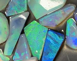 GEMS & GEMS; 30 CTs of Beautiful Lightning Ridge Opal Rubs, #939