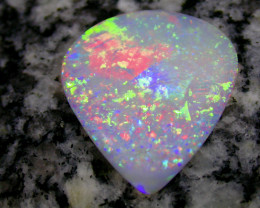 11.55ct HIGHEST QUALITY 2-SIDED MULTI PATERN RAINBOW COLORS OPAL