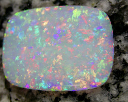 9.24ct 2-SIDED MULTI PATERN ONLY COLOR FULLY SATURATED CRYSTAL OPAL