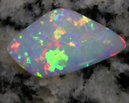 3.85ct HIGHEST QUALITY 2-SIDED MULTI PATERN RAINBOW COLORS  OPAL