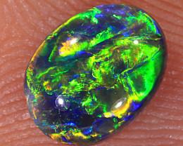 0.7ct 7x5.4mm Solid Lightning Ridge Dark Crystal Opal [LO-1678]